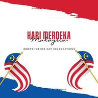 Malaysia independence day banners template. vector