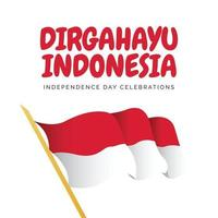 Indonesia independence day banners template. vector