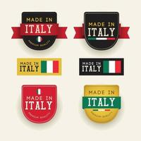 Made in Italy badge vector template.