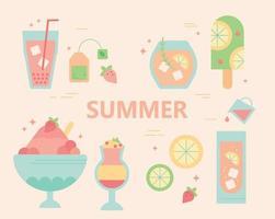 Summer food menu vector