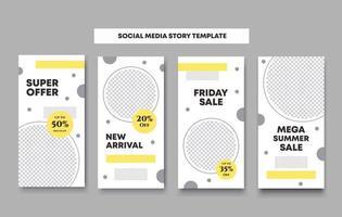 plantilla colorida de publicación en redes sociales vector