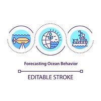Forecasting ocean behavior concept icon vector
