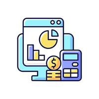 Cost management RGB color icon vector