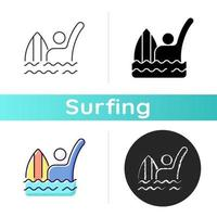 Emergency signal for drowning icon vector