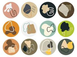 abstract Shape icons for Social Media vector
