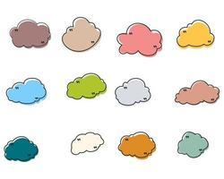 marco de cuadro de cita de nube vector