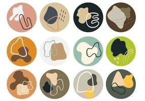 Abstract Geometric Icons for Social Media vector