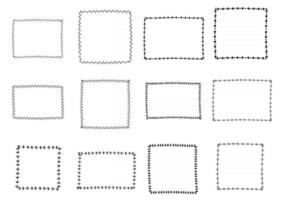 Set of Simple Doodle Frame vector