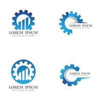 Gear logo template icon design vector