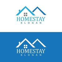 home stay logo design vector template illustration icon