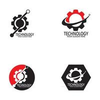 Business technology logo design vector template