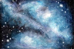 Abstract watercolor galaxy sky background, Cosmic texture. Night sky. vector