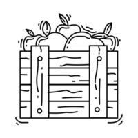 Gardening harvest icon. hand drawn icon set, outline black, vector