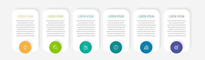 Infographic Design Template With Six Icons vector
