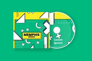 Cd cover design template. Abstract background Vector illustration.