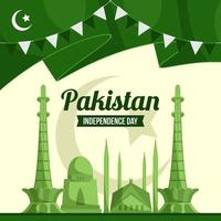 Pakistan Independence Day Concept vector