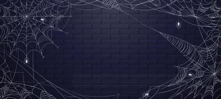 Spiderweb for Halloween Background vector