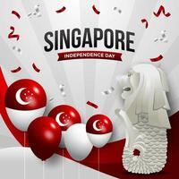 Singapore Independence Day Concept vector