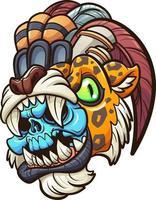 guerrero jaguar azteca vector