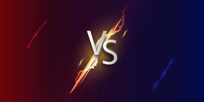 Versus screen. Vs battle background. vector