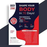 Fitness Flyer, Gym flyer design template, Health Fitness Flyer vector