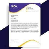 Business style letterhead, Modern Business Letterhead Design Template vector