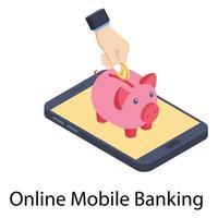 Online deposit Concepts vector
