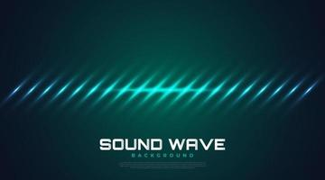 Spectrum Sound Background with Glowing Waves. Equalizer Design vector