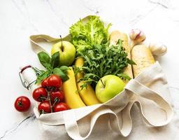 Zero waste food shopping. photo