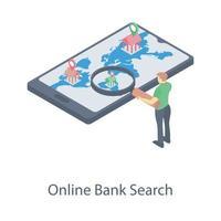 Bank Searching App vector