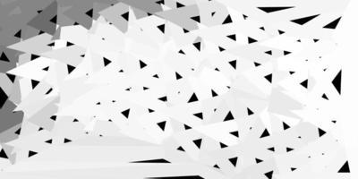Plantilla de mosaico de triángulo de vector gris claro.