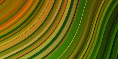 Dark Green, Yellow vector pattern with wry lines.