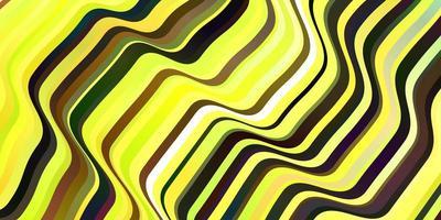 Dark Green, Yellow vector layout with circular arc.