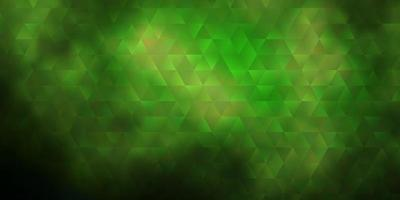 Dark Green vector pattern with polygonal style.
