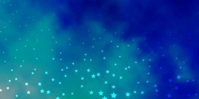 Dark Blue, Green vector template with neon stars.