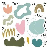 Big set of hand drawn colorful shapes and doodle objects. vector