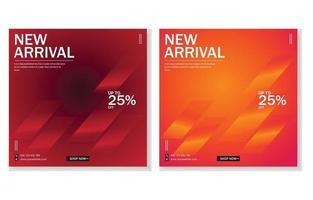 New arrival promotion social media banner design. vector