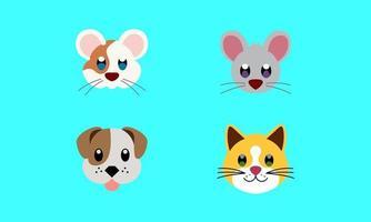 cute face animal pet law poly logo icon symbol vector illustration