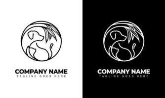 Dog Cat Veterinary Clinic Logo Template symbols, vector logo