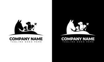 Creative Vector of a Horse, Dog, Cat, bird, rabbit logo design Animals