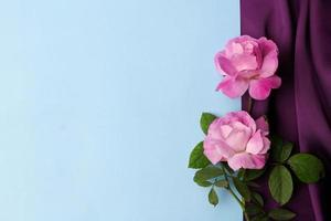 Empty mockup card with flowers and plants photo