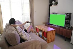 Watching the Television photo