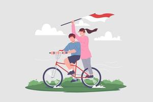 Celebrating Indonesia Independence Day Vector Illustration.