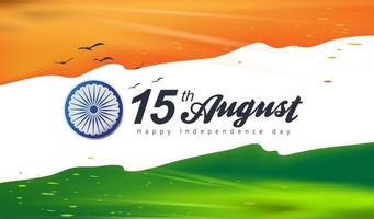 Independence day India celebration banner with color splash vector