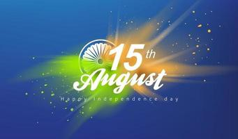 Independence day India celebration banner with color splash. vector