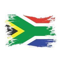 Bandera de Sudáfrica con vector de diseño de estilo de pincel de acuarela