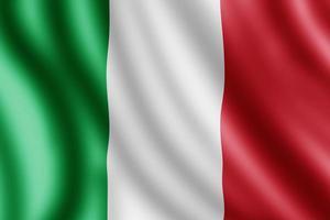 bandera de italia, ilustración realista foto