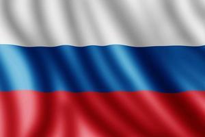Russian flag, Realistic illustration photo