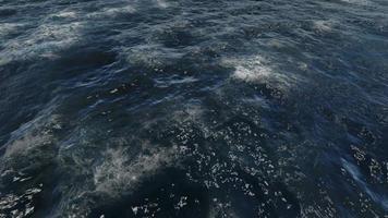 tempête avec de grosses vagues dans le vaste océan video
