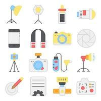 Pack of Photography Flat Icons vector